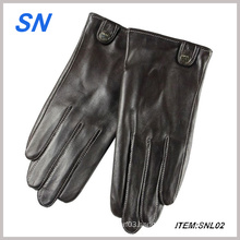 Genuine Black Leather Touch Screen Gloves