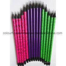 Design OEM crayons en bois noir avec gomme