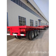 3 Axle Flatbed 40ft Container نصف مقطورة