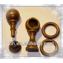 Vintage New old stock french wooden hardware for curtain rod diameter 0.78