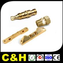 CNC Drehmaschine Bearbeiten Kupfer / Messing Teile mit Nickel Beschichtung