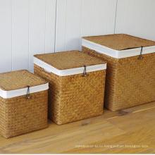 (BC-ST1081) Практичная чистая ручная корзина соломенной корзины с крышкой
