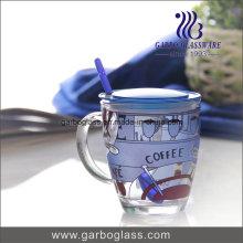 Tasse décorative 14oz avec couvercle et cuillère