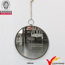 Parede de metal moldado artesanal decorado pequenos espelhos redondos decorativos