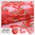 China fábrica profissional tecido líquido bonito bordado
