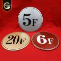 Números personalizados da porta do apartamento Placa do número da porta