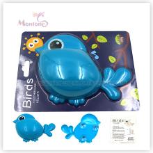 Accessoires de salle de bain Porte-brosse à dents animal pour enfants avec ventouse (en forme d'oiseau)