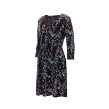 Hot Sale Factory Direct Clothing Simple Short Sleeve Casual Women Elegant Dress