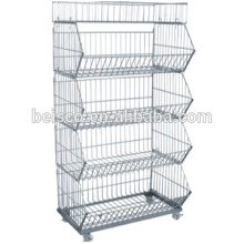 Alambre durable contenedores de malla / alambre de acero inoxidable de malla / alambre malla panel soldado con autógena