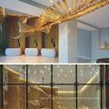 Luz de araña de cristal de lujo de nuevo diseño