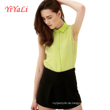 Frauen Shirt Bluse Chiffon Baumwolle Top Lady Kleidung