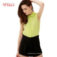 Женщины Блузка Рубашка Шифон Хлопок Верхняя Одежда Дамы