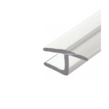 Joint de montant en H en polycarbonate à 180 degrés pour porte de douche