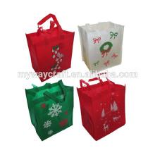 Malas de Natal não tecidas Sacos de presente de férias de tecido reutilizáveis