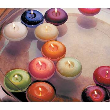 Verschiedene Farben Paraffin Wax Floating Ball Candles