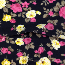 knitted 4 way stretchy printed tropical small flowers polyamide bikini fabric lycra