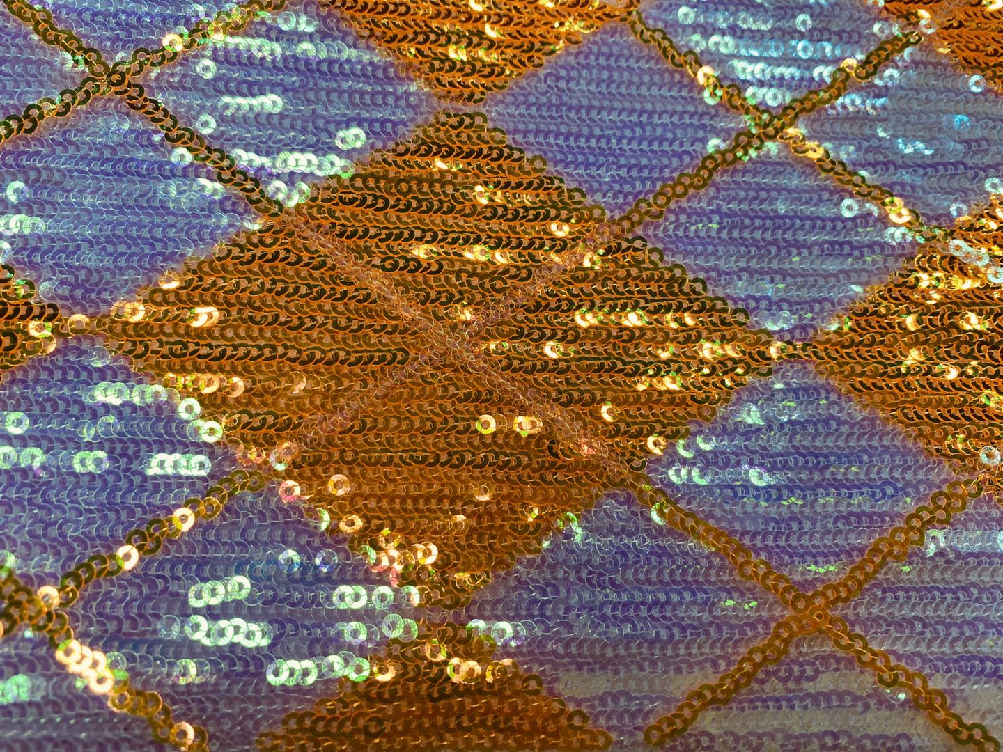Rhombus Sequins Embroidery Fabric