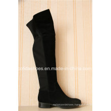 Sexy Flat Women Winter Long Boots with Fashion Elastic