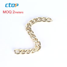 high quality light gold fashion jeans stainless steel metal chains selling chain for bag wholesale handbag chain