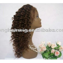 Fashion Designed Indian Human Hair Short Jerry Curl Full Lace Wigs