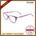 Хорошо перспективных моды взрослых Tr90 оптические очки в розовом цвете