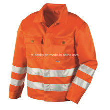 Mens Hivis Workwear 3m Reflective Tape High Visibility Jacket