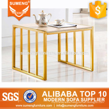 2017 luxury hotel furniture beautiful coffee table with marble top