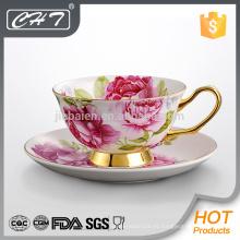 Tazas de té determinadas de la porcelana de la porcelana de la buena calidad de la venta caliente para América