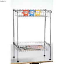 Ajustável mini metal cromado profundamente cesta de cesta de fio (cj502590b2c)