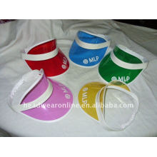 PVC visor hats with printed logo design