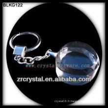 Porte-clés en cristal de coeur vide pour la gravure laser 3d