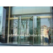 Porte tournante en cristal automatique de luxe