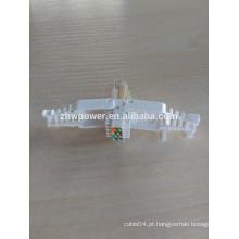 Cat7 rj45 plug modular 8P8C UTP / FTP Cat7 RJ45 plug para cabo de rede encalhado