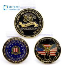Wholesale custom metal zinc alloy embossed 2d 3d epoxy silver gold military souvenir hollow challenge soft hard enamel coin