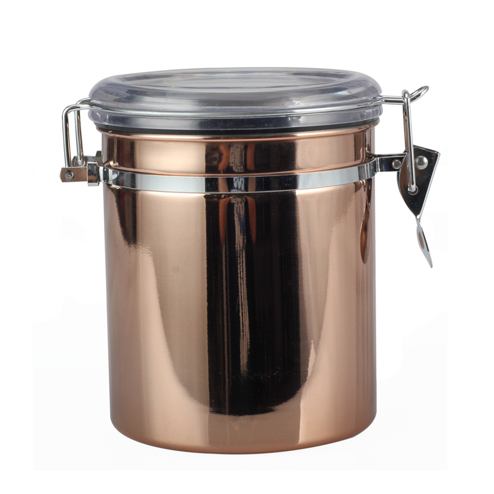 Stainless Steel Vacuum Seal Storage Jar Coffee Canister