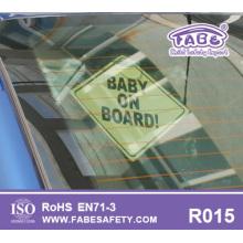 Etiqueta do bebê a bordo para o carro