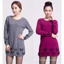 robe de tricot 100% kashimir hiver femme