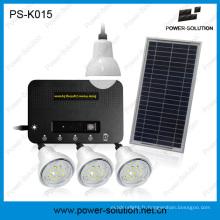 Système d'énergie solaire avec 4 ampoules LED