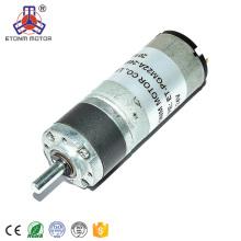 Aprobación CE 22mm dc gear motor 12v 24v caja de cambios planetaria