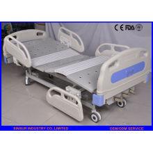 China Suministro de lujo ABS Guardrail Manual de 3 funciones de camas de hospital ajustable