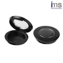 Round Plastic Blush Compact Case