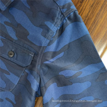 Fashion Clothing Dyed Printed Long-sleeve Cotton Shirts