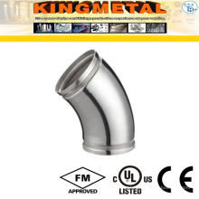 304L Stainless Steel 45 Degree Elbow with Grooved End