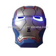 wholesale and retail new arrive 144PCS/CTN blue gold LED Iron Man mask for Christmas and Halloween and Party