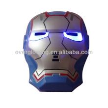 Atacado e varejo new chegar 144 PCS / CTN ouro azul LED Homem De Ferro máscara para o Natal e Halloween e Festa