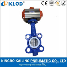 Actuator Manufactory Pneumatic Valve Actuator with Wafer Butterfly Valve