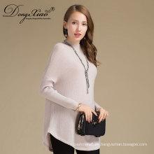 Suéter hecho punto largo hecho punto de la cachemira de las mujeres con las mejores ventas