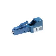 Atténuateur de fibre optique 5db 7db, atténuateur de fibre 7db 5db lc upc plug-in type