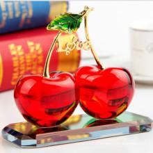 Presente de frutas de cristal colorido para decoração de artesanato