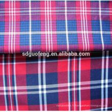 Pour Chemise Tissu en popeline à carreaux teints en fil 100% coton